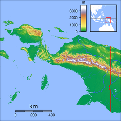 Map showing the location of Teluk Cenderawasih National Park