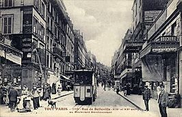 Rue de Belleville in 1900.