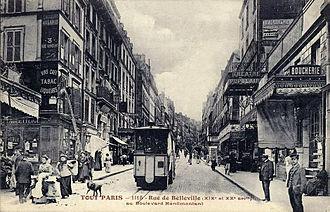 Jacques Aubert - Image: Paris Rue de Belleville 02