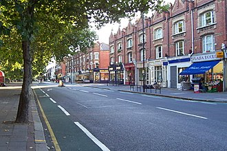 Parsons Green - Parsons Green area looking north along New King's Road