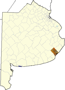location of Mar Chiquita in Buenos Aires Province