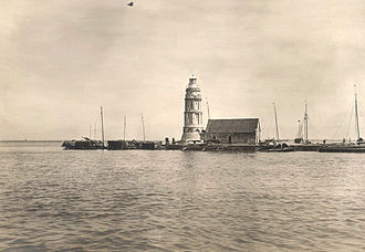 Pasig River Light - The Pasig River Lighthouse on the north jetty of Pasig river mouth