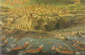 Fortezza del Tocco - Image: Passaggio di don Redin ad Acireale dipinto di Giacinto Platania del XVII secolo