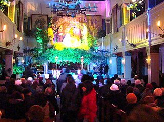 Pasterka midnight mass celebrated during Christmas between 24 and 25 December by Roman Catholics across Poland
