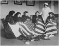 Patriotic old women make flags. Born in Hungary, Galicia, Russia, Germany, Rumania. Their flag-making instructor, Rose R - NARA - 533657.tif