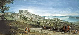 Paul Bril - View of Bracciano, early 1620s