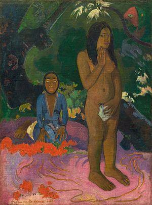 Fatata te Miti (By the Sea) - Parau na te Varua ino  (Words of the Devil), 1892, National Gallery of Art Washington