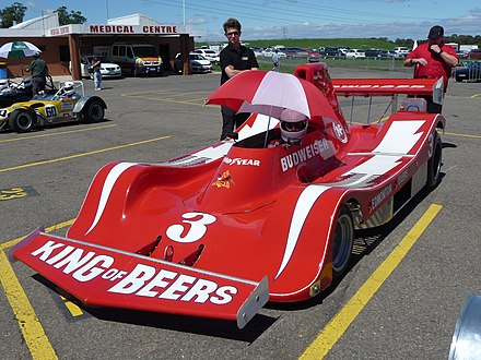 A Newman Freeman Racing Spyder NF Can-Am race car from 1979 (photograph taken 2011) Paul Newman Racing 1979 Spyder NF-11 Chevrolet V8 - CanAm single seater racer based on Lola T333CS.jpg