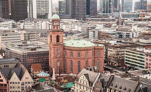 Paulskirche from Frankfurter Dom during Weihnachtsmarkt 2012