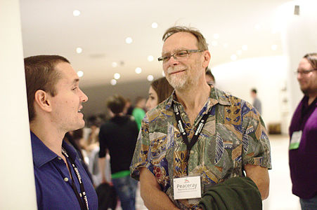 With Jonathan Morgan at Wikimania 2015 Reception at Museo Soumaya