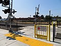 Pedestrian crossing at Santa Rosa Downtown station, August 2018.JPG