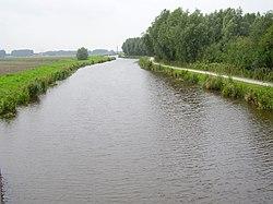 Pekel Aa vanaf de fietsbrug bij Zuiderwuppen stroomopwaarts.JPG