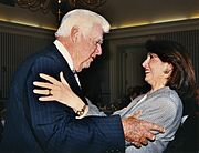 Nancy Pelosi with one of her predecessors, the late House Speaker Tip O'Neill