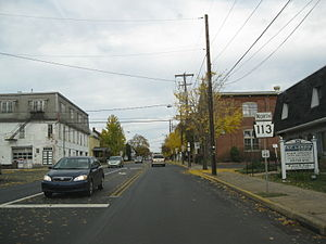 Pennsylvania Route 113 - PA 113 northbound in Souderton