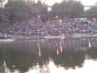 College of Engineering, Pune - People witnessing the 83rd Regatta