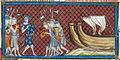 Philip Augustus arriving in Palestine - British Library Royal MS 16 G vi f350vr (detail).jpg