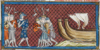 Third Crusade - Philip II depicted arriving in Palestine, 1332–1350
