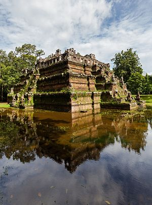 Phimeanakas temple in Angkor Thom, former Khmer Empire today Cambodia.