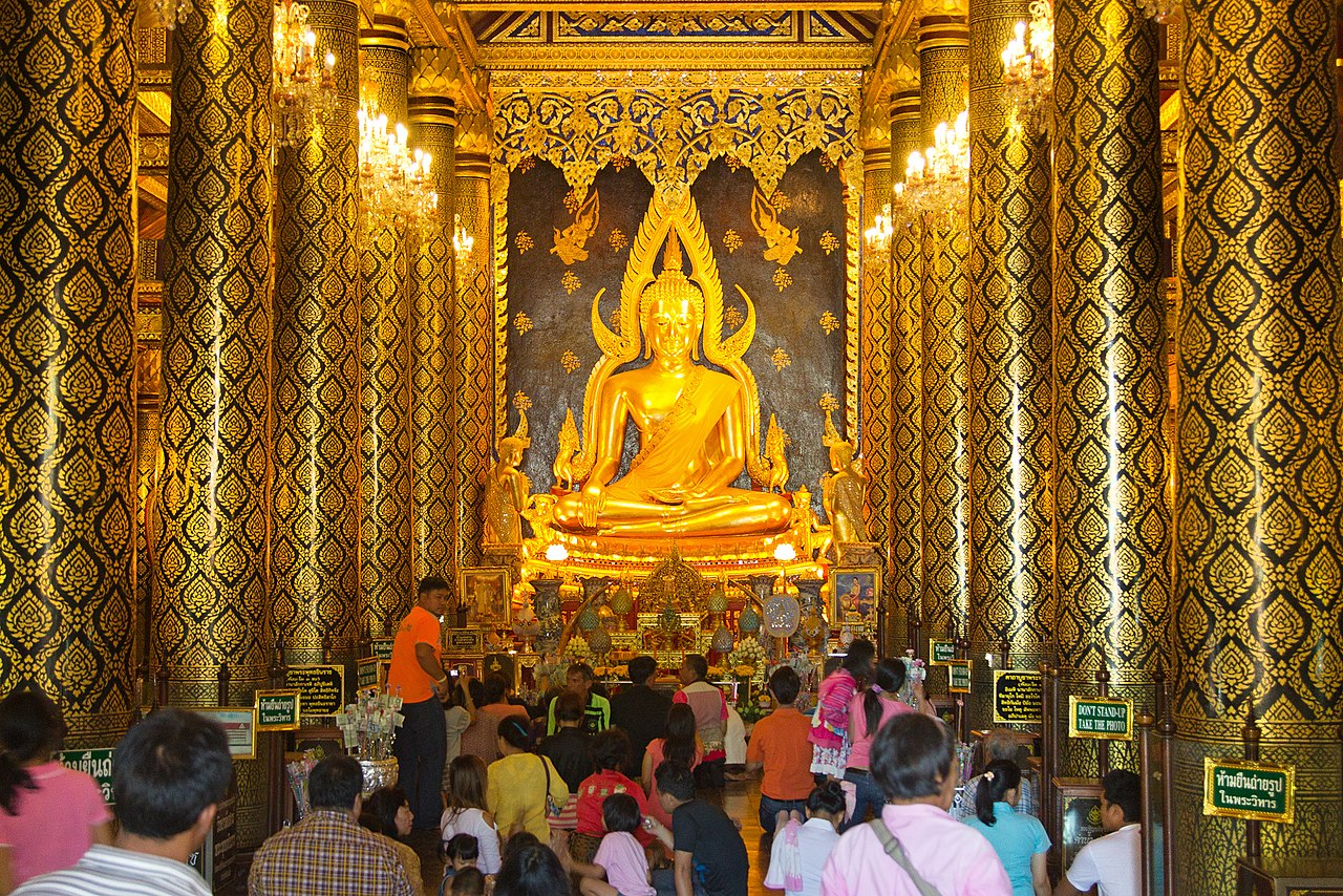 Phra Buddha Jinaraj, Wat Phra Si Rattana Mahathat, Phitsanulok, Phitsanulok Province, Thailand