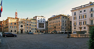 Piazza Farnese - Piazza Farnese. On the right, the Gallo Palace.