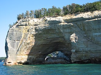 History of the National Park Service - Grand portal at Pictured Rocks National Lakeshore