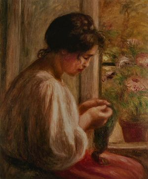 New Orleans Museum of Art - Renoir's Seamstress at the Window