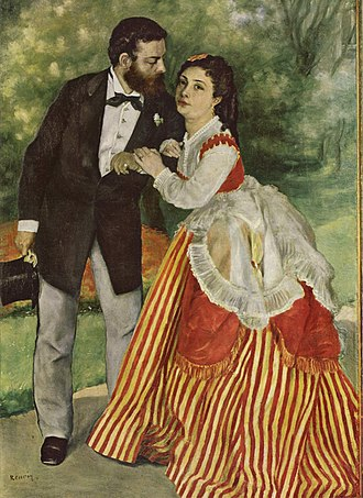 Alfred Sisley - Pierre-Auguste Renoir, Alfred Sisley and his Wife, 1868