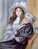 Pierre-Auguste Renoir, Portrait of Berthe Morisot and daughter Julie Manet, 1894