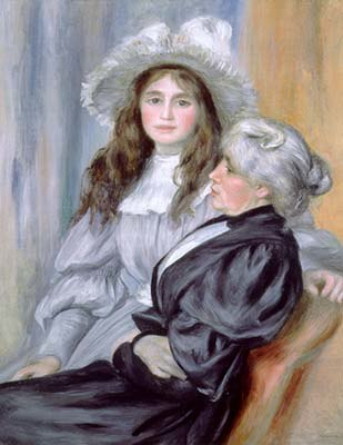Pierre Auguste Renoir - Portrait Berthe Morisot and daughter Julie