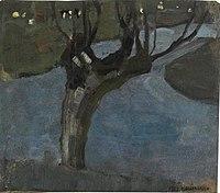 Piet Mondriaan - Irrigation ditch with mature willow - A218 - Piet Mondrian, catalogue raisonné.jpg