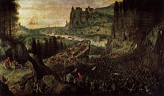 <i>The Suicide of Saul</i> painting by Pieter Brueghel the Elder