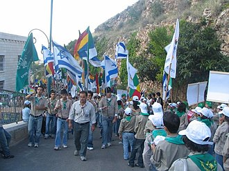 Druze - Israeli Druze Scouts march to Jethro's tomb. Today, thousands of Israeli Druze belong to such 'Druze Zionist' movements.