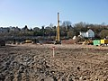 Pile-driver, Crindau building site - geograph.org.uk - 1752065.jpg