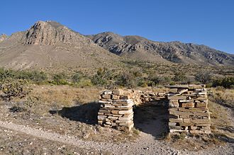 Butterfield Overland Mail in Texas - Ruins at The Pinery in Guadalupe Mountains National Park