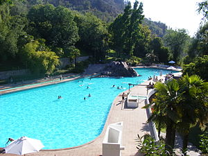 Santiago Metropolitan Park - Pool on Tupahue Hill.