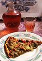 Pizza à la bohémienne et Alpes-de-Hautes-Provence IGP rosé.JPG