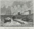 Place de la Bastille en 1830, vue prise de la gare de l'Arsenal.jpg