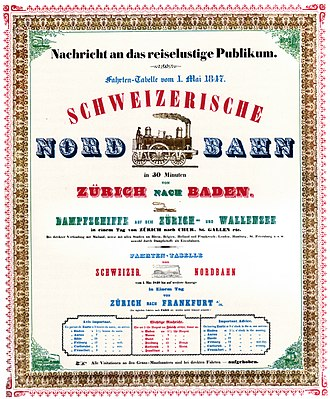 Switzerland as a federal state - 1847 SNB poster