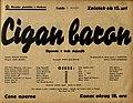 Plakat za predstavo Cigan baron v Narodnem gledališču v Mariboru 5. maja 1940.jpg
