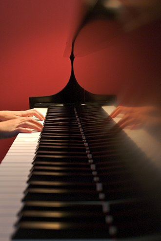 Muscle memory - Playing the piano requires complex actions