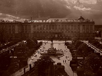 Sociological Francoism - Plaza de Oriente, with the Royal Palace of Madrid behind. This was the setting for the largest pro-Francoist demonstrations both during the dictator's life and after his death. Francoists who remain nostalgic of the regime still commemorate his death here every 20 November (known in Spanish as 20-N).