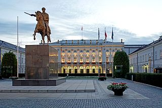 government building in Warsaw, Poland