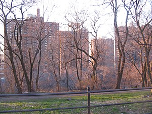 Coogan's Bluff - The Polo Grounds Towers from Coogan's Bluff