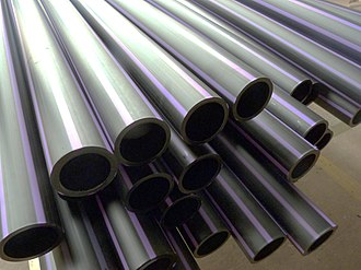 Plastic pipework - Plastic Pipe lengths manufactured in Australia by Extruding HDPE material (High Density Poly-Ethylene).