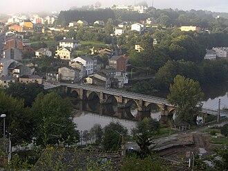 Lugo - Old Roman bridge over the Miño river.