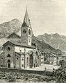 Pontebba prospetto della chiesa principale xilografia di Barberis.jpg