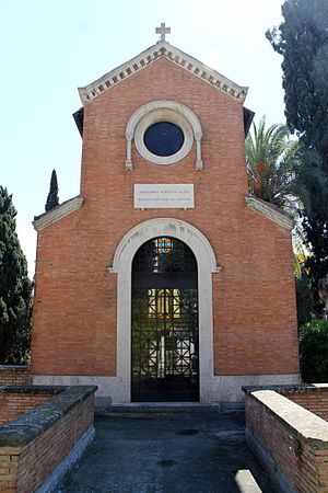 Louis Hostlot - The North American College's mausoleum in the Campo Verano, which was constructed by the behest of Msgr. Hostlot's brother and sister in 1913.