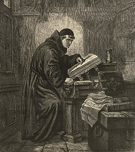 Portrait of Luther's first study of the Bible (4674520).jpg