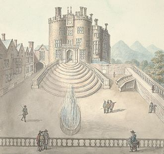Powis Castle - Powis Castle from the courtyard, 1794