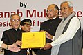 Pranab Mukherjee presented the Krishi Karman Awards 2012-13 to State Governments for exemplary performance in increasing food grain production, at the inauguration of the World Congress on Agroforestry- 2014 (1).jpg